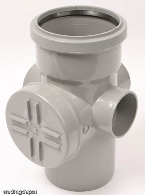 "4"" Access pipe (Single Socket) (Grey) SA43"